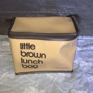 Little brown Lunch bag Bloomingdales vinyl large